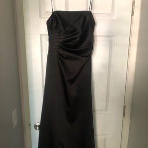 Long strapless formal dress